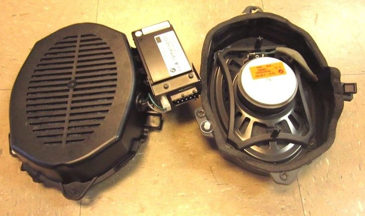 BMW E46 3 Series Sedan OEM Rear Harman Kardon Subwoofer Speakers & OEM Amp  A1 #HarmonKardon