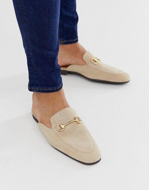 ASOS DESIGN backless mule loafer in