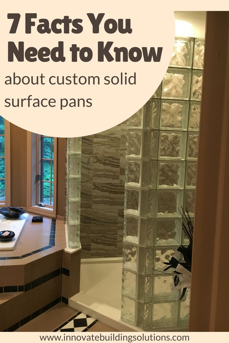 Do you have a strange sized NEO angler shower pan? How about a shower with 4 inside walls and can't find a custom pan - not made of tile? Learn about custom solid surface shower pans as a long-lasting option. | Innovate Building Solutions #ShowerBase #ShowerPan #SolidSurface #Tile