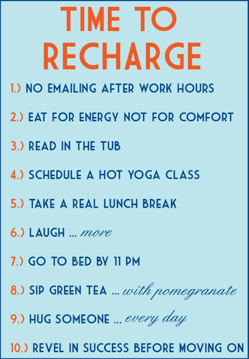 Time To Recharge!