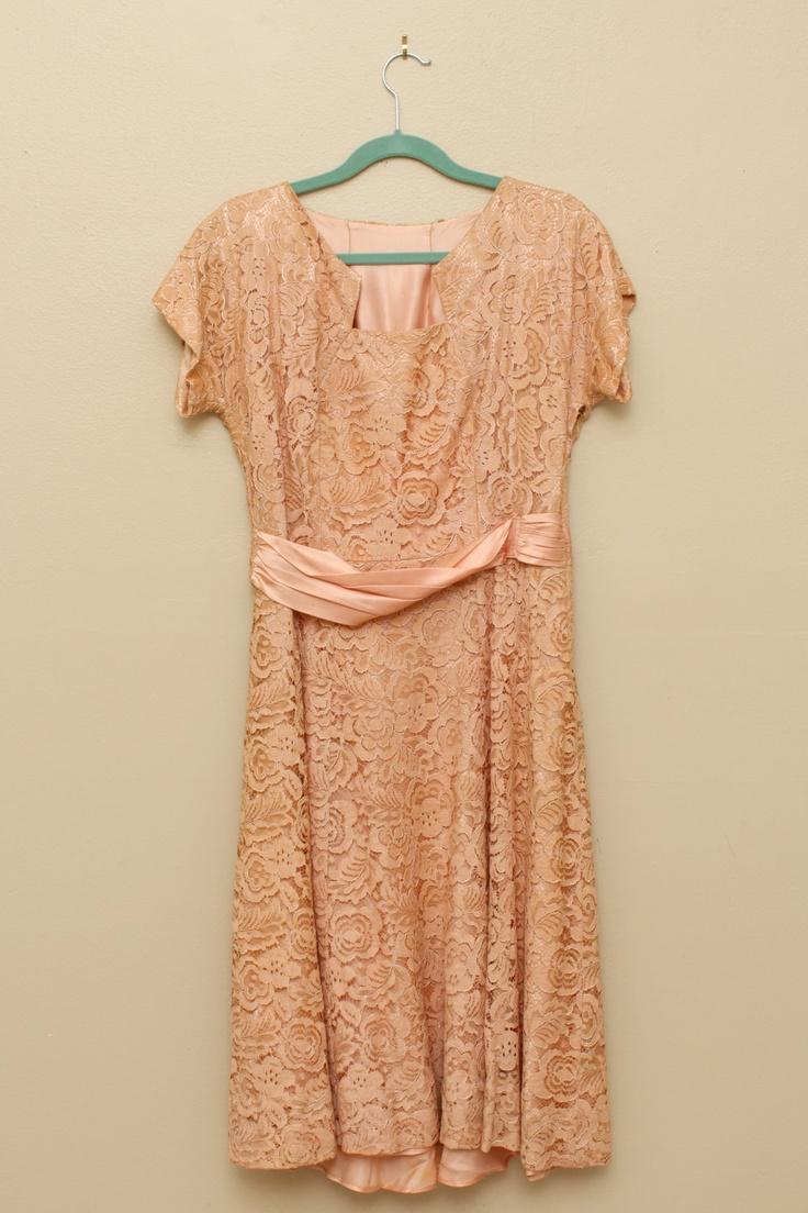 Vintage Peach Lace Dress Peachy ⊱ ⊱ Pinterest