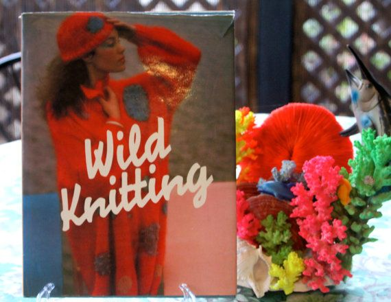Classic Retro 1980's Wild Knitting Book by VintageCollateral