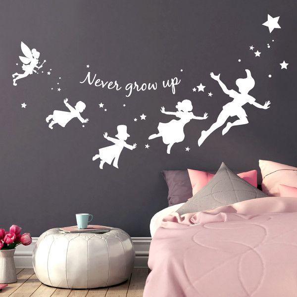 Wandtattoo Wandtatto Peter Pan Neverland Never Grow Up Ein