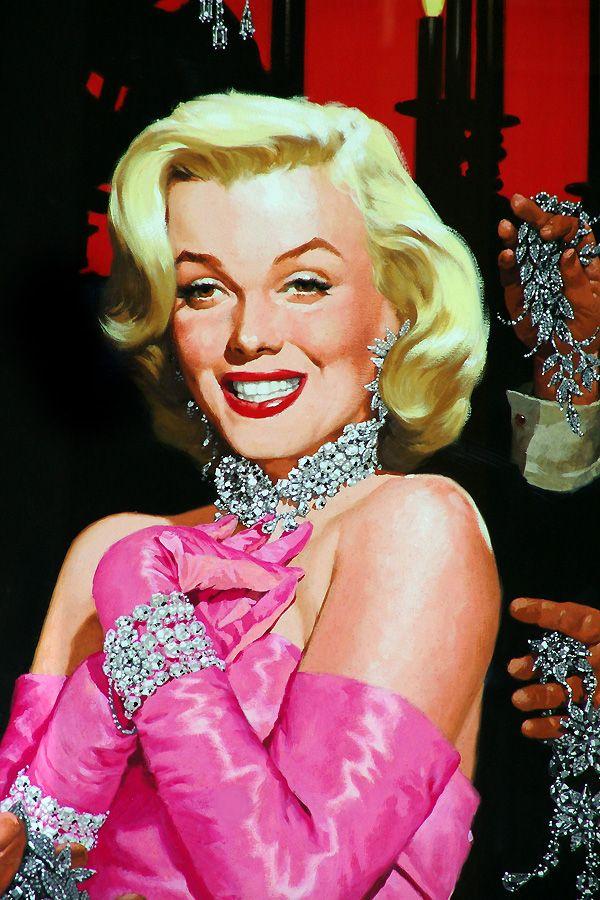 Marilyn Monroe  Ilustrador: José Luiz Benício (Rio Pardo, RS, Brasil - 1936)