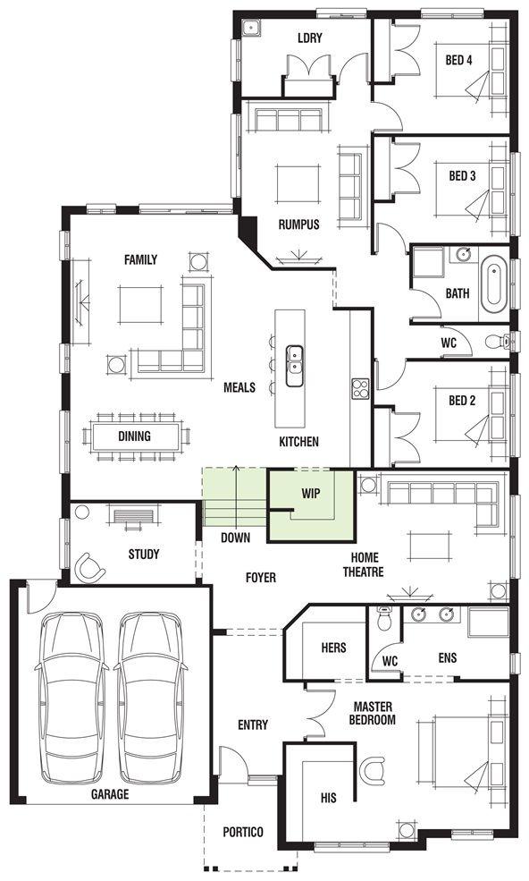 17 best future floor plan options images on pinterest floor house design dunedin porter davis homes malvernweather Images