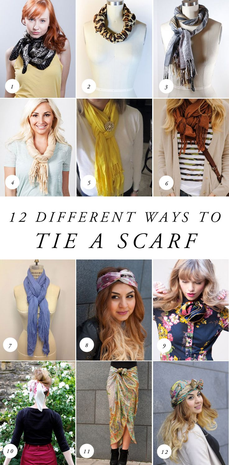 12 Different Eyeliner Tutorials To Switch Up Your Look: 12 Different Ways To Tie A Scarf