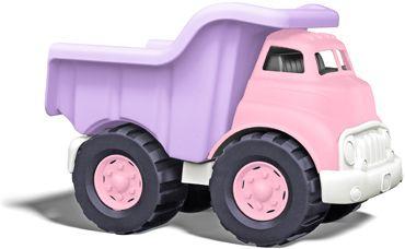 Green Toys pink & lavender dump truck.