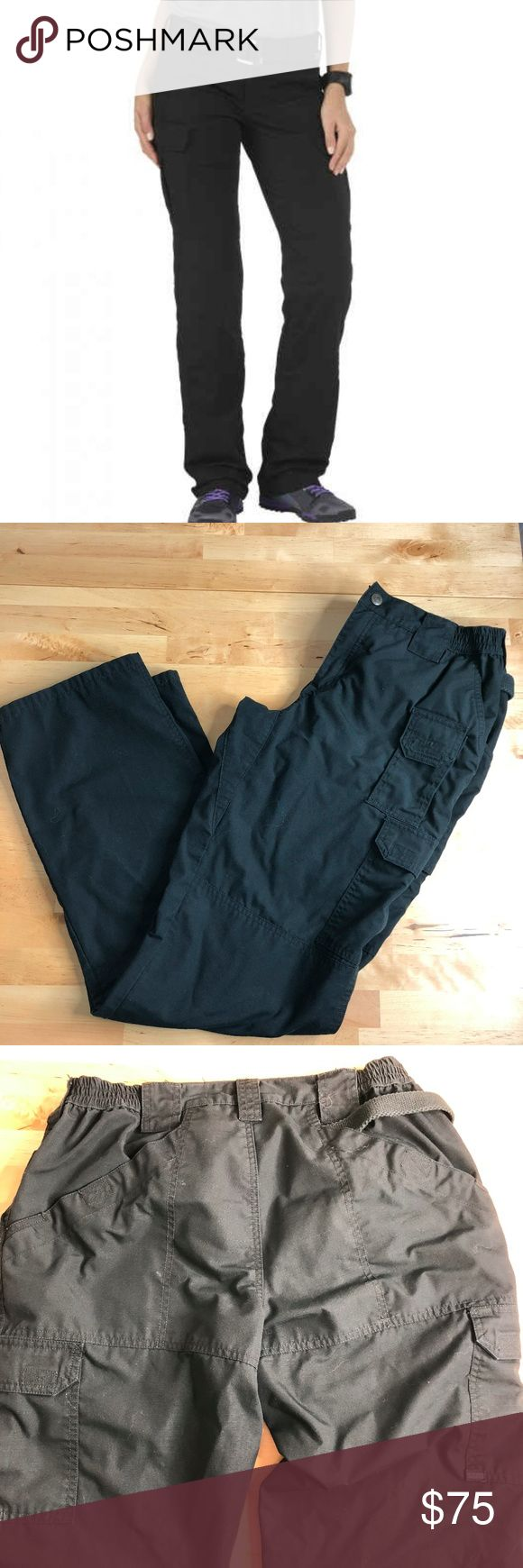 511 tactical series 14 Excellent condition 511 tactical brand in size 15.  Waist band has some stretchy areas. Zip fly.  Look at pictures for my details. Inseam: 34.5 inches.  Many pockets on pants. Two front pockets Two back pockets with velcro closure front right velcro pocket with velcro flap Front left pocket with velcro flap 511 Tactical Series Pants