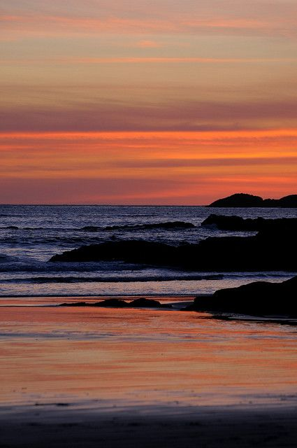 Tofino, British Columbia, Canada - Beautiful sunset on the Pacific Ocean!