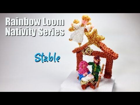 Rainbow Loom Nativity Series: STABLE. Designed by PG David on PG's Loomacy. You Tube.