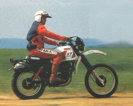 1979 Paris Dakar XT500 test ride