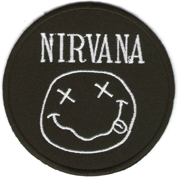 Nirvana American Rock Band Iron on Patch Embroidered Racing DIY T-shirt Jacket Black. on Etsy, $1.20
