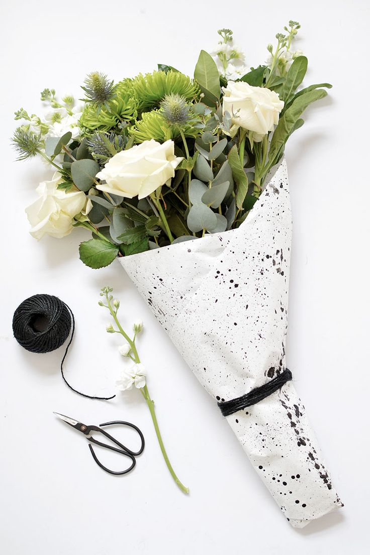 4 ways to wrap a flower bouquet @burkatron
