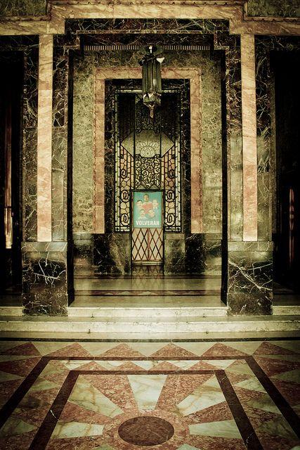 Cuba Beautiful Art Deco interior in The Bacardi Building, Havana.