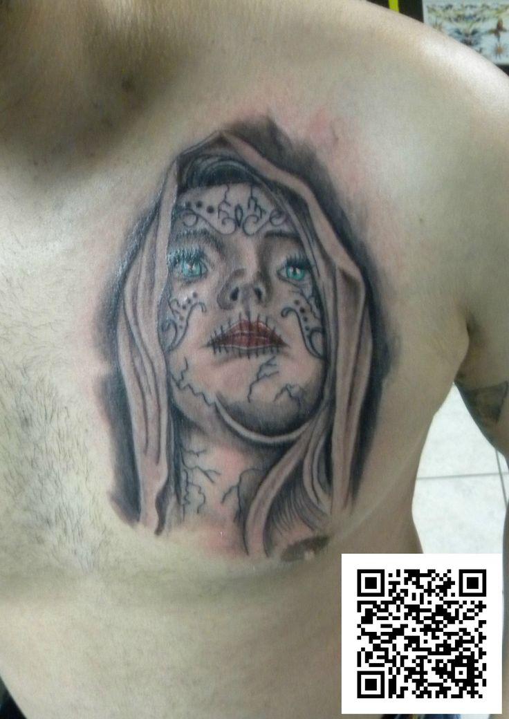 #pettorale #katrina #grigio&nero #tatuaggio #montefortetattoo2016