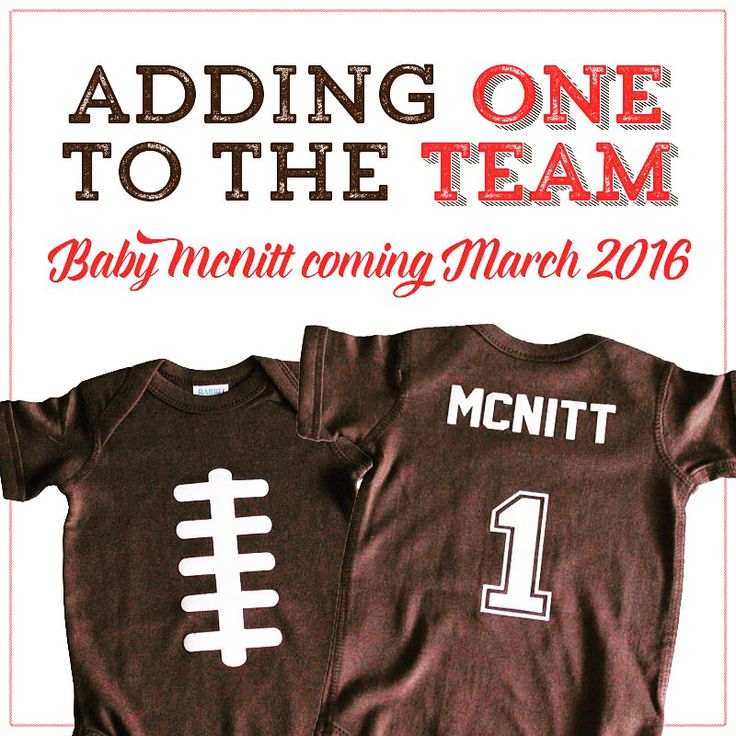 Adorable pregnancy announcement. #allybdesigns #babygoods #pregnancy…