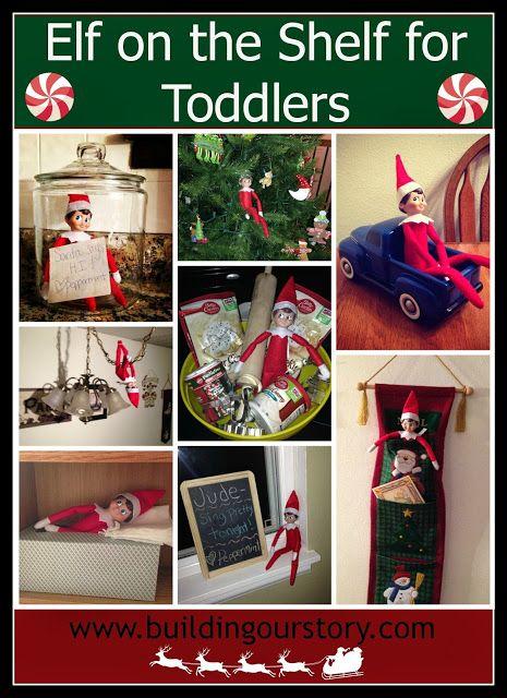 Our Elf on the Shelf: Week 2 #elfontheshelf Great Elf on the Shelf Ideas for Toddlers