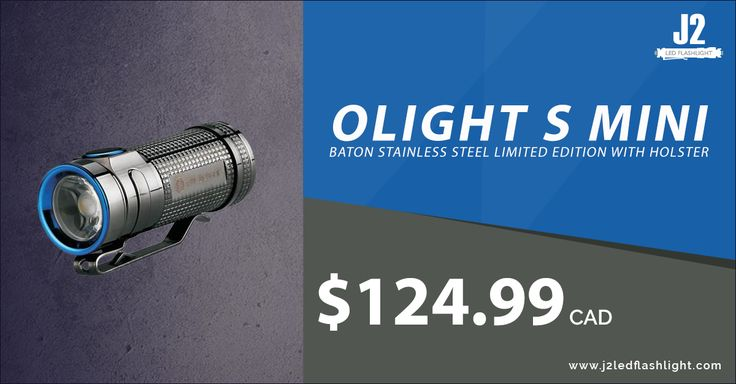 OLIGHT S MINI BATON STAINLESS STEEL LIMITED EDITION WITH HOLSTER Shop Now>>https://goo.gl/ZKRGcl