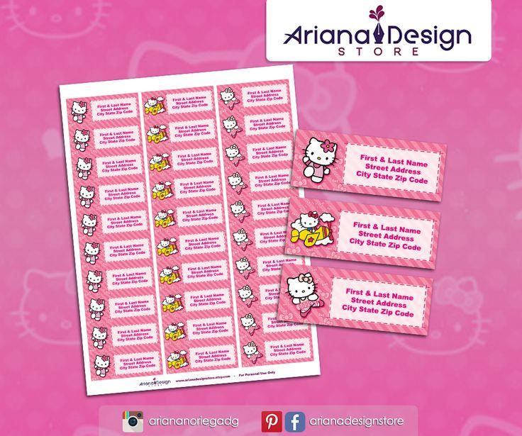 #etiquetas #etiquetasparadirecciones #hellokitty #arianadesignstore #kitty #hellokittyparty #hellokittyprintable #addresslabel #label #mail #stickers #letter