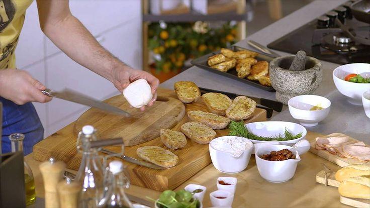 Bucataria Lidl, cu Andrei - Aperitive cu crema de branza & Burger de curcan
