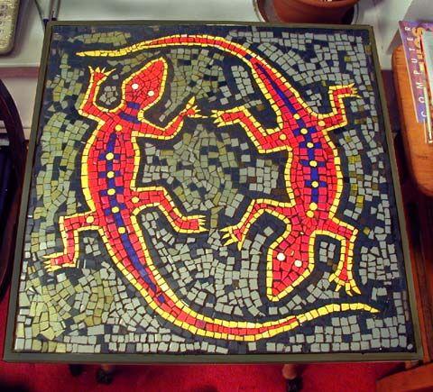 salamandre mosaiques essayer projets lzards mosaque trucs mosaque peintures murales de mosaques mosaques mandalas - Idees Mosaiques Image