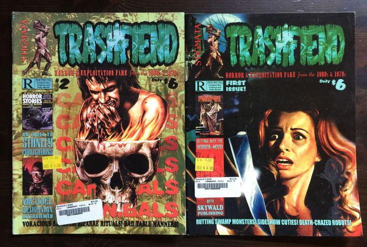 TRASHFIEND MAGAZINE 1 & 2 HORROR EXPLOITATION FILMS MICHAEL BERRYMAN CANNIBALS
