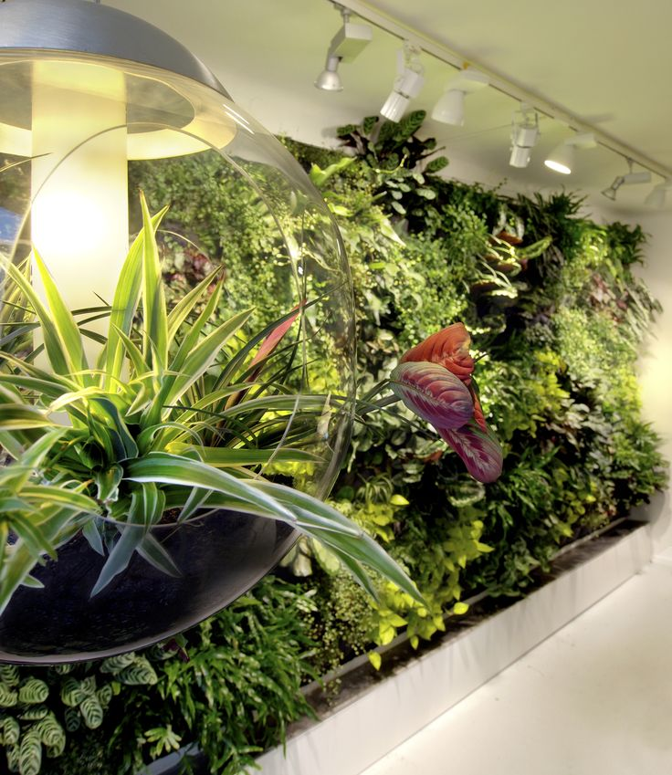 Embed green plants in furniture! Babylone lamp by Greenworks.
