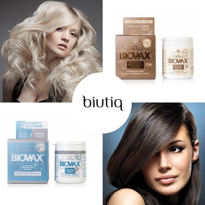 Maski do włosów Biovax - intensywna regeneracja