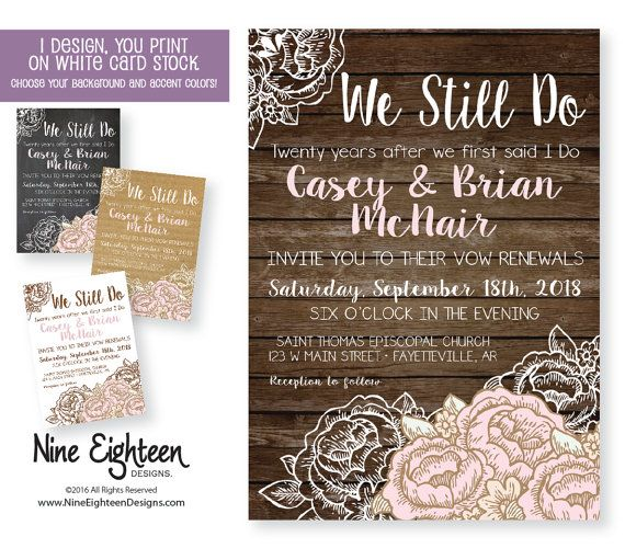 19 best wedding vow renewal invitations images on pinterest happy we still do wedding vow renewal by nineeighteenweddings on etsy custom designed vow renewal invitations by stopboris Images