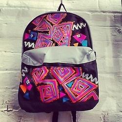 Awesome #90s #backpack #freshprinceofbelair #neon #freshprince #skate #goonies #thriftshop #poppintags #igsale