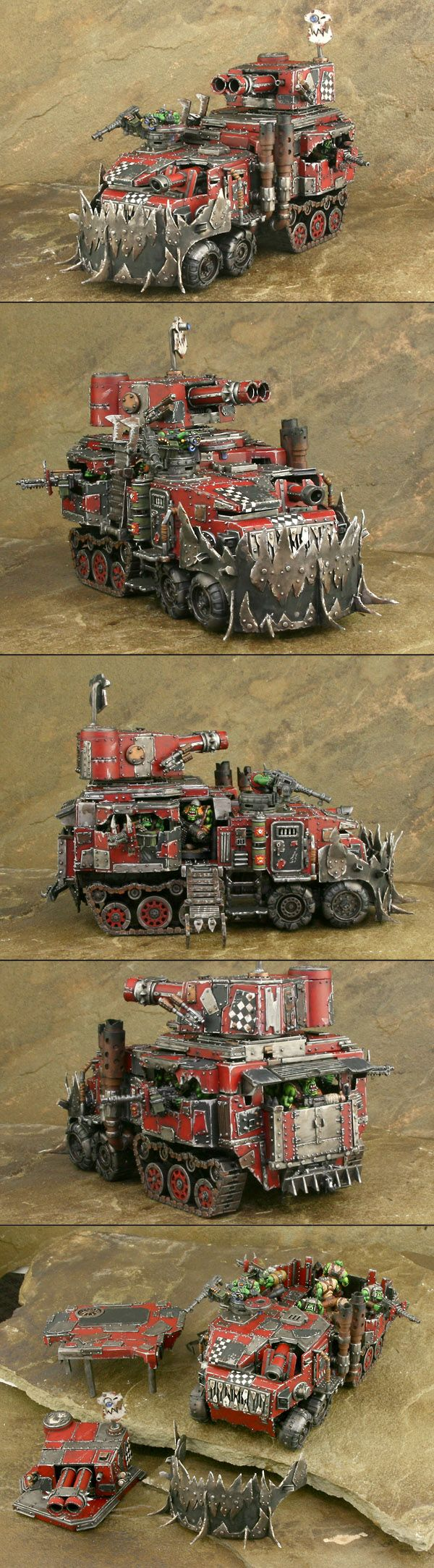 Ork Battlewagon Modified and Magnetized