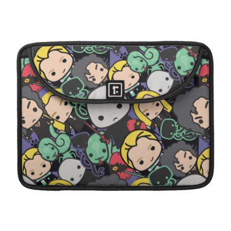 Cartoon Harry Potter Death Eaters Toss Pattern Sleeve For MacBooks #laptop #computer #ipad #mac #sleeve #bags #modern #colorful