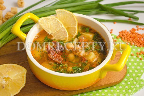 Картофельный суп с бобовыми