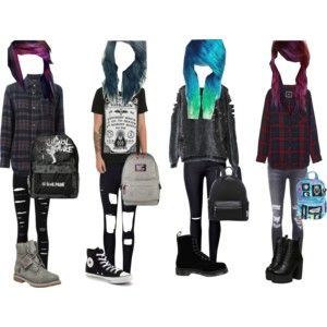 Emo/scene girl outfits