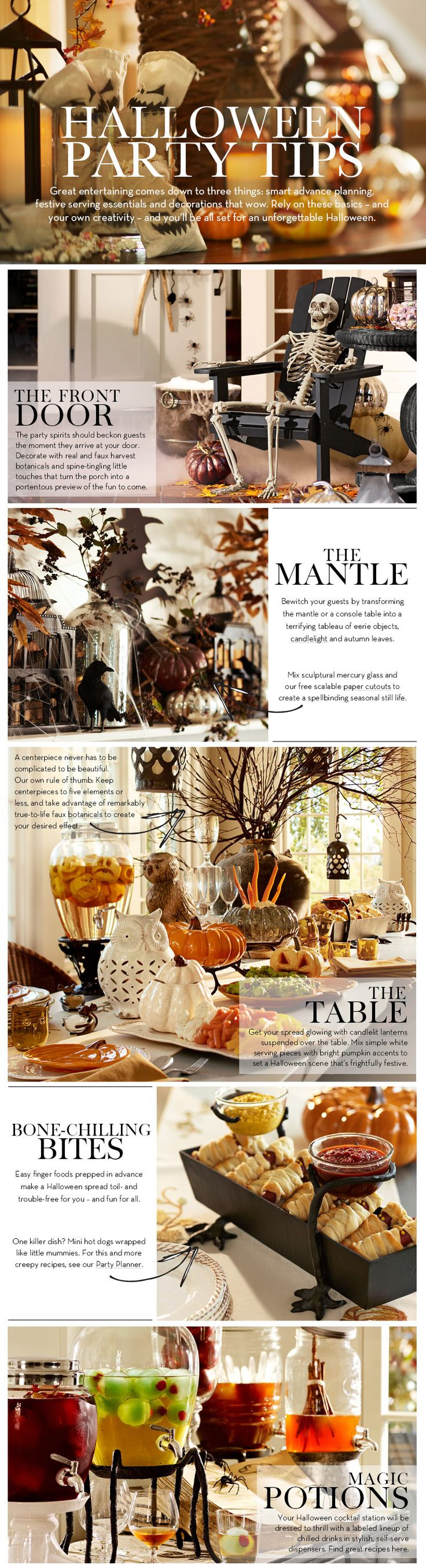 Halloween Party Tips from Pottery Barn......mostly stuff to purchase, but will give you some ideas