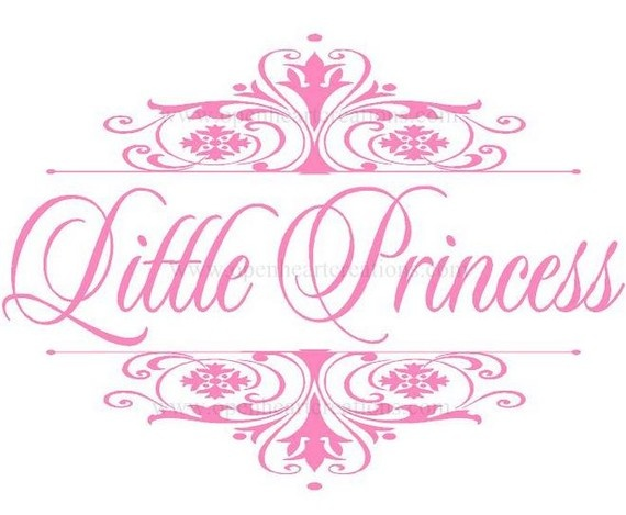 Princess Vinyl Wall Decal  Elegant Damask by openheartcreations, $45.00