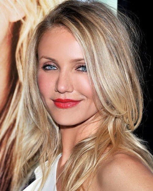 long blonde hairstyle for a square face