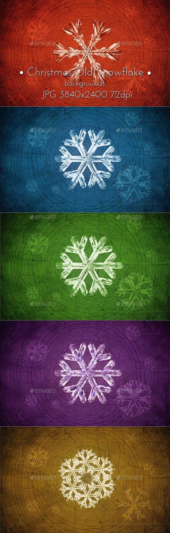 Christmas Snowflakes Old Background by cinema4design. #graphicriver #christmasbackground #snowflakes