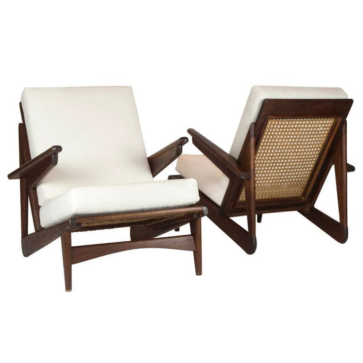 Pair of Teak Arm Chairs From