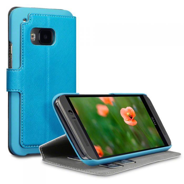 Blått fodral till HTC One M9. Köp snygga fodral idag via länken: http://www.phonelife.se/mobilfodral