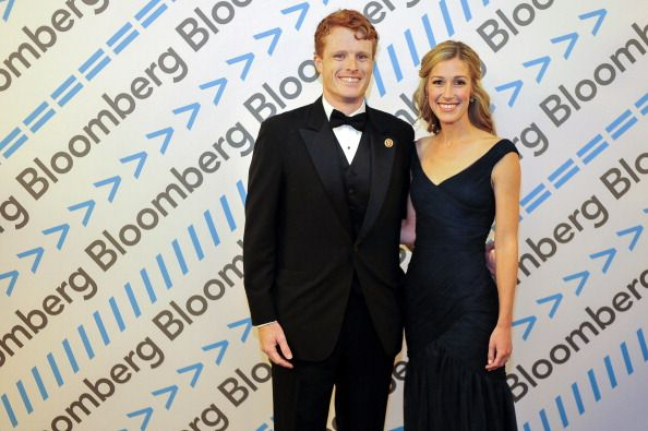 :Representative Joseph P. Kennedy III, a Democrat from Massachusetts, and his wife Lauren Birchfield attend the Bloomberg cocktail party before the White House Correspondents' Association (WHCA) dinner in Washington, D.C., U.S., on Saturday, May 3, 2014