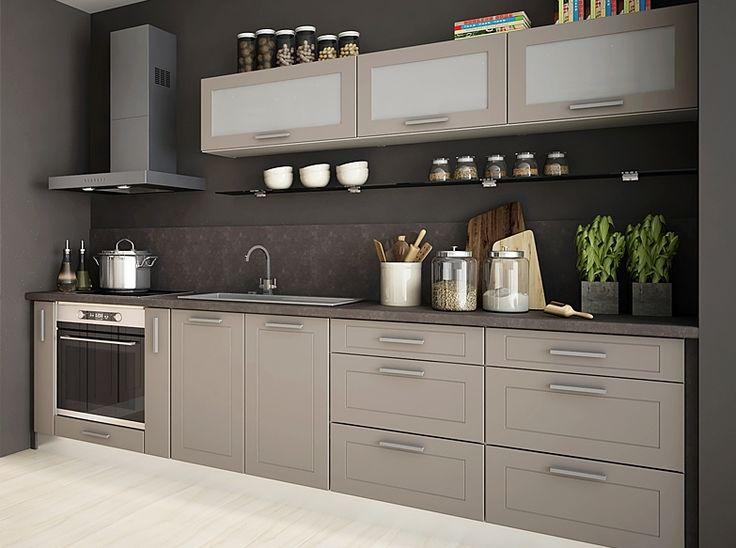 Küchenzeile 290 cm , Matt, mit Soft Close Funktion