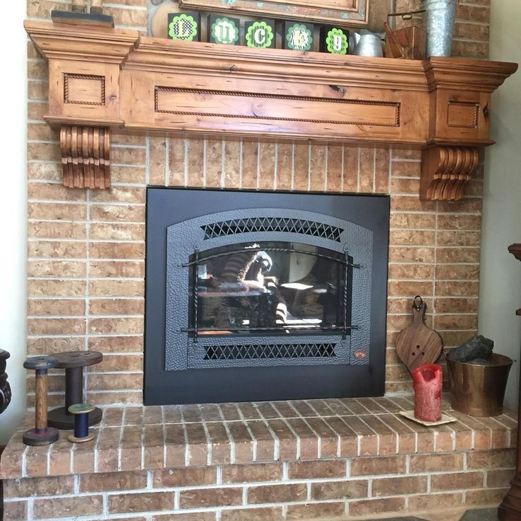 vintage rustic fireplace mantel shelf corbels hearth