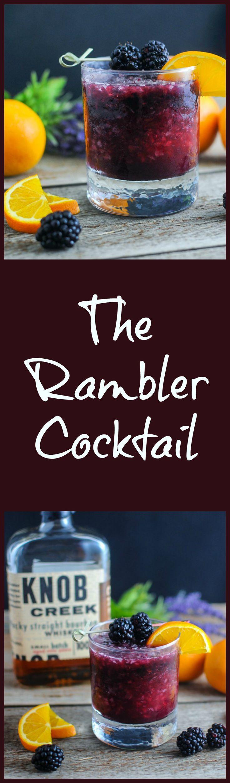 The Rambler - bourbon, blackberries, orange juice cocktail, drink, recipe, classic, simple, spring, knob creek, blackberry