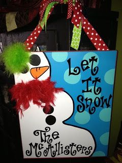 Personal Pizazz by Lindsey: Holiday ideas for your door!