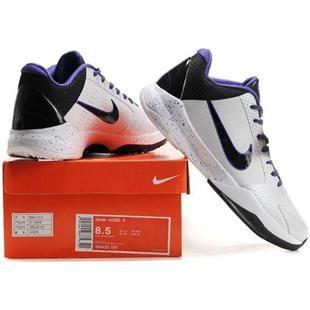 http://www.asneakers4u.com/ Nike Zoom Kobe V Shoes White/Black/Purple Sale Price: $67.30
