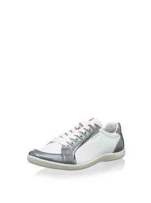 30% OFF Prada Men's Sneaker (Bianco/Granito)
