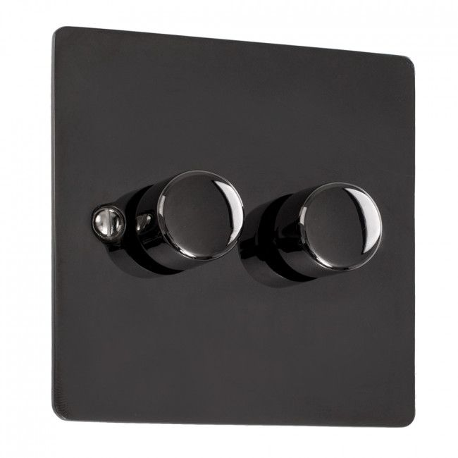 Double Led Dimmer Switch In Black Chrome Led Dimmer Switch Led Dimmer Dimmer Switch