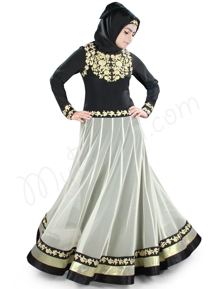 Beautiful Embroidered Party Wear Farheen Abaya | MyBatua.com Style No : AY-388 Price : $74.00 Available Sizes XS to 7XL