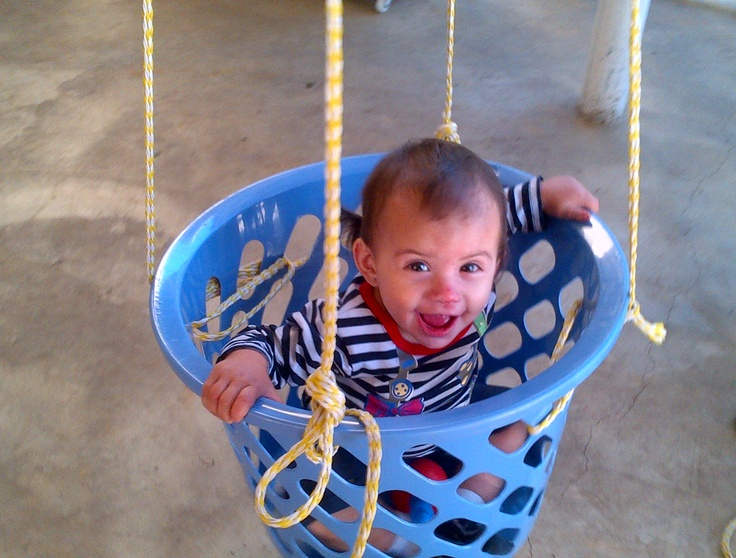 My daughter loves to swing, and after a boring day, this was a good idea